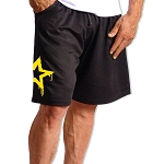 Style 600MSS  Micro blend Black training shorts With Yellow Star