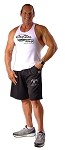 Style 600MS Micro blend black training shorts with Train Insane White/Char Design