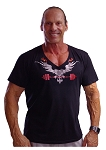 New Style 680V Black with/ Versa  Phoenix summer cool, light weight,  Relaxed Fit  V-Neck