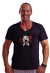 New Style 680V Black, summer cool, light weight,  Relaxed Fit  V-Neck With Goliah versa