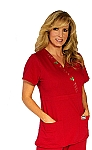 WFT Women's Fitted Red Holiday Top