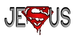 Crazee Wear Design Stickers (Decals)Versa Red Jesus Superman