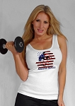 315 Wht Tank Top With American Muscle Design