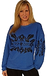 Style 700ft Blue Sweat W/ tribal Shirt