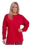 Style 444FT Red French Terry Warm And Soft Sweat Shirt Top