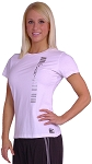 Style 380 Womens Wht Top With Vertical Cal. CZW Bar in Silver  Clearance