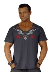 New Style 680V Charcoal Grey with/ Versa  Phoenix summer cool, light weight,  Relaxed Fit  V-Neck
