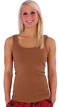 315  Light Brown Tank Top