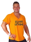 New Style 680V Orange, summer cool, light weight,  Relaxed Fit  V-Neck With Go Hard Go Home