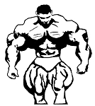 Crazee Wear Design Stickers (Decals)Huge Muscle Man