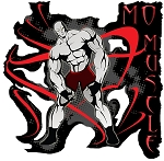 Crazee Wear Design Stickers (Decals) Mo Muscle Design