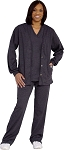 Crazee Wear designer Scrub Jackets Charcoal