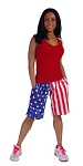 Style 510P American Flag Shorts