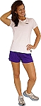 Style 900WS Micro blend purple training shorts