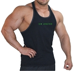 Crazee Wear 312RC Black With Grey Ribbing And Sleek CZW Athletics Design In Neon Green
