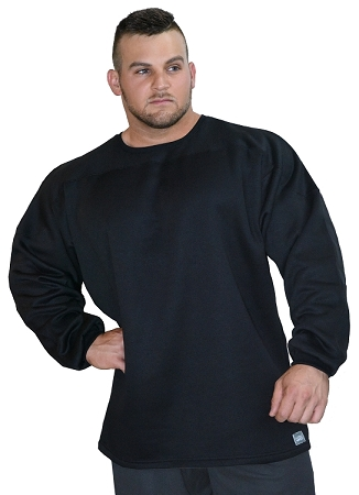 Style 444ft Black Relaxed Fit  Crazee Sweat Shirt