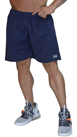 Style 600MSS  Micro blend navy training shorts