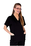 Style WST890 Womens Black V-Neck Top