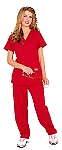 Crazeewear msp Red Scrub Womens Pants