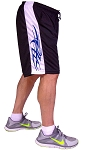 Style 600MS Micro blend black/White training shorts With Blue Side Winder