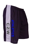 Style 600MS Micro blend black/Grey training shorts With CZW Athletics In Blue