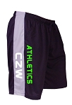 Style 600MS Micro blend black/Grey training shorts With CZW Athletics  In Neon Green