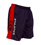 Style 600MS Micro blend black/Red training shorts With CZW Athletics