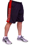 Style 600MS Micro blend black/Red training shorts With Side Physique