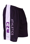 Style 600MS Micro blend black/White training shorts With CZW Athletics  In Purple
