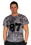 Custom Tee /Black Burnout Relaxed Fit Muscle Tee With Est 87