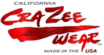 Crazee Wear Design Stickers (Decals) Versa Crazee Wear Red Logo