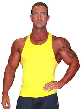 312R  Fitted Cotton/Lycra Yellow Tank Top