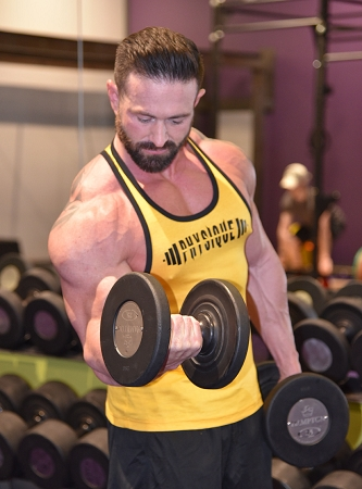 Stringer Tank Top In Yellow With Black Trim With Physique design
