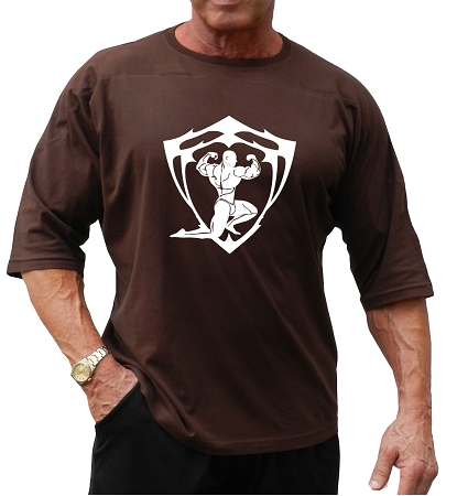T-Shirt Relaxed Fit Shirt In Brown With Sparta Design