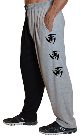 Classic Two Tone Relaxed Fit Baggy Pants With Blade Star Design