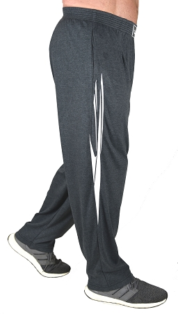 Classic Solid Charcoal Grey Pants For Men And Women With White Spear Pattern