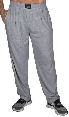 Classic New Heather Grey Relaxed Fit Baggy Pants For Men And Women