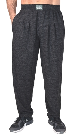 Ultra Soft Winter Warm Heather Charcoal Grey Relaxed Fit Pants