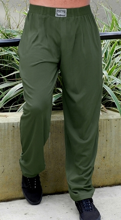 Style 500 Classic Solid Army Green Relaxed Fit Baggy Pants For Men And Women