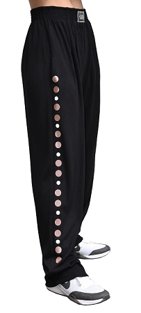 Style 500 Classic Black Designed Relaxed Fit Soft Baggy Pants With Rose Gold Universal Design