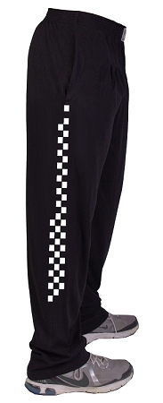 Style 500 Classic Black W/Speedway in White Down Side Of Pants