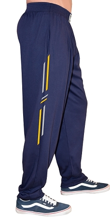 Style 500 Classic Navy With Yellow/Grey  Symmetry Designed Relaxed Fit Soft Baggy Pants For Men And Women