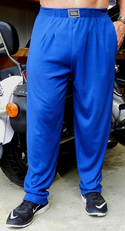 Style 500 Classic Solid Pacific Blue Relaxed Fit Soft Baggy Pants For Men And Women