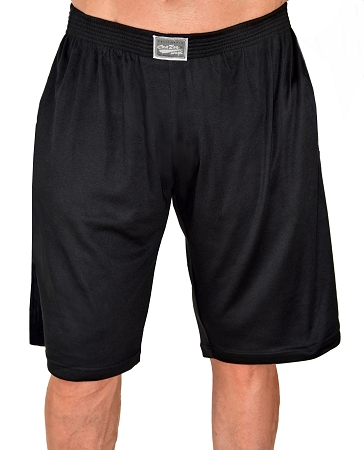 Style 510P solid Black Shorts