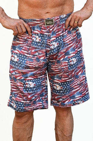 Style 510P Classic America Freedom  Baggy  Relaxed Fit Shorts For Men And Women