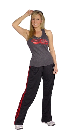 600MPS micro fiber pants (black with red stripes)