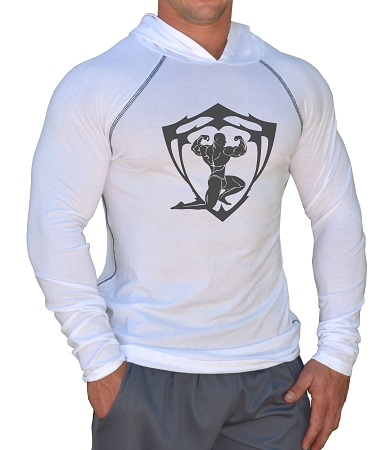 Fitted T-Shirt Pacific Hoodie (White) For Men And Women With Sparta Design