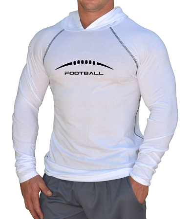 Fitted T-Shirt Pacific Hoodie (White) For Men And Women Football Design