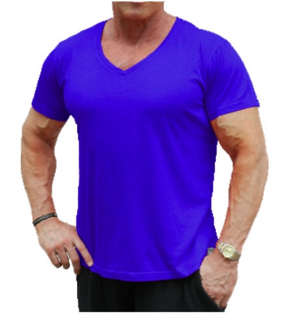 New Style 680V Cobalt Blue, summer cool, light weight,  Relaxed Fit  V-Neck