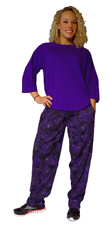 Style 500 Classic Purple Rain Relaxed Fit Baggy Pants For Men And Women